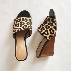 Franco Sarto McKenna Calf Hair Wedge Sandal 7.5